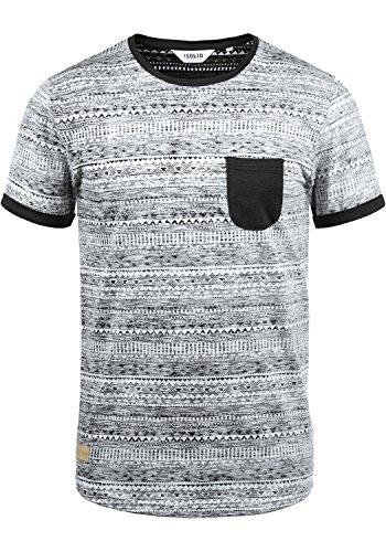 !Solid Ingo Herren T-Shirt Kurzarm Shirt Mit Rundhalsausschnitt und Inka-Print Aus 100% Baumwolle, Größe:M, Farbe:Black (9000)