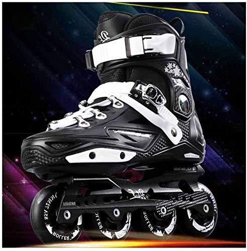 Lloow Outdoor-Sportschuhe Online Adult Berufscarboninlineskaten Skates Rollstühle Schuhe Bequeme Schuhe Eisschnelllauf für Anfänger für Frauen und Männer,Schwarz,43