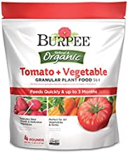 Burpee Organic Tomato and Vegetable Granular Plant Food, 4 lbs