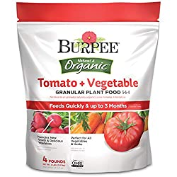 Burpee Organic Tomato and Vegetable Granular Plant Food