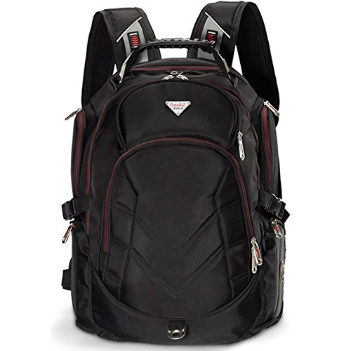 FreeBiz Laptop-Rucksack 19 Zoll / 48,3 cm / 48,3 cm / 48,3 cm / 43,2 cm / 17,3 Zoll Dell, Asus, Msi MacBook Notebook Rot schwarz 19 Inches