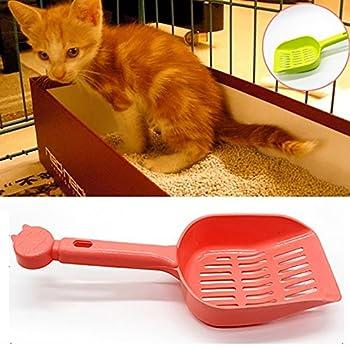 quanjucheer Pelle pour litière de chat, évider, Candy Couleur Pelle Outil de nettoyage pour animal domestique Chien Accessoire