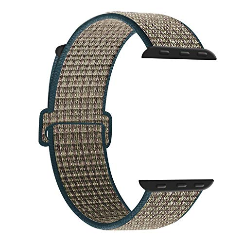 Supersta - Cinturino di ricambio per Apple Watch, 38 mm, 40 mm, 42 mm, 44 mm, in nylon intrecciato