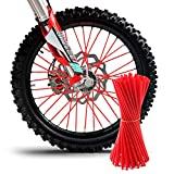 TREONK 72Pcs Copriraggi Spoke Skins Copertine per Pelli a Raggi Wheel Enduro Cerchione Ruota per Bicicletta Motocross Dirt Bike Moto da Strada 23.7CM-10 Colori