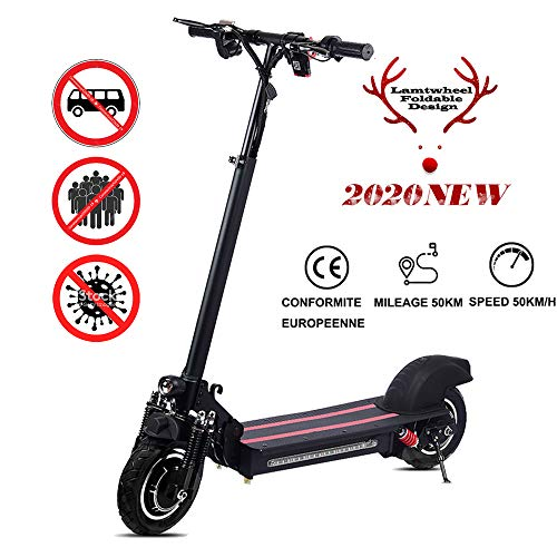 Faltbarer Elektroroller Für Erwachsene E Scooter - Leistung 1200 W - 48 V / 22 Ah - Höchstgeschwindigkeit 50 Km/H E-Roller - CE-Zertifiziert(Perfekter Ersatz für Bus und U-Bahn)