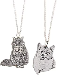 pet photo silver pendant