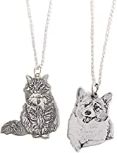 personalized pet photo necklace 925 silver