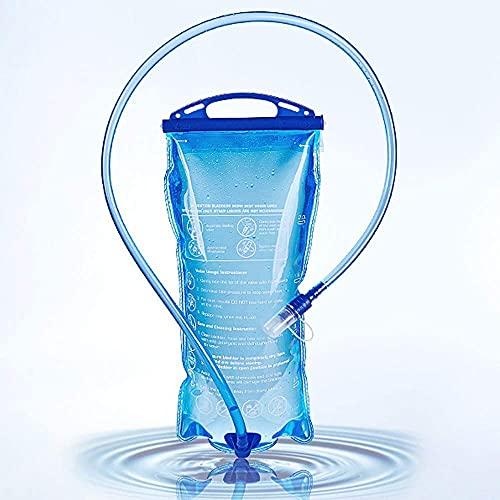 Wander-Trinkblase 3L Trinkrucksack Reservoir Anti-Leckage BPA-frei Outdoor Sports Portable 3L Wasserspeicher Blase für Reiten Camping Laufen Klettern Blau, 3 l