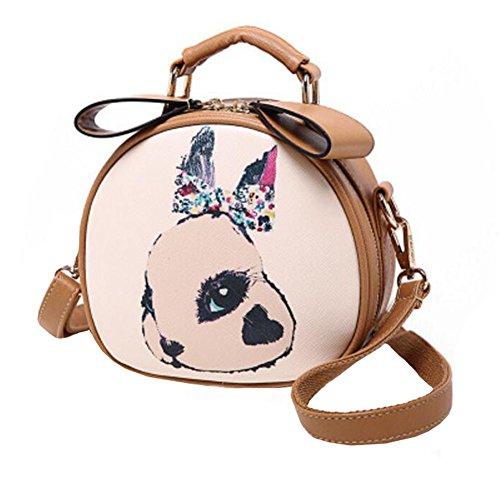 Purse Bag Sac à bandoulière unique épaule Girlfriend Kid Cadeau d'anniversaire Loisirs Lapin mignon, kaki
