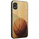 TurtleArmor   Compatible with Samsung Galaxy A10e Case   Galaxy A20e Case   Hard Shell Engraved Grooves Hybrid Fitted TPU Case Sports and Games Design - Hardwood Basketball