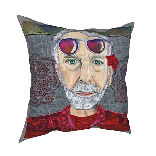 Bakugou Ybhoo0 Krishna Das 18'' X18 Throw Pillow Covers Decorative Couch Pillow Square Cushion Cover for Sofa, Couch, Bed and Car 12'' X12 Black