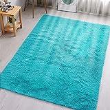 MENGH Cabecera Alfombras Salon Alfombras de Habitacion 160x200cm, Lavable, Adecuado para salón Dormitorio baño sofá Silla cojín, Azul