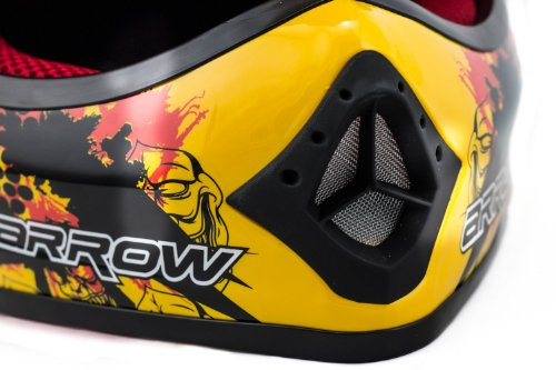 "ARMOR · AKC-49 ""Yellow"" (Gelb) · Kinder-Cross Helm · Enduro Kinder Off-Road Sport Motorrad Moto-Cross · DOT certified · Click-n-Secure™ Clip · Tragetasche · S (53-54cm) - 4"
