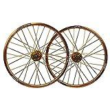 Llanta de bicicleta Ruedas de ruedas de bicicleta 20 pulgadas de disco de freno de disco para bicicleta plegable de doble pared aleación de aleación 406 qr 32 hoyo 8 - 10 velocidad 1730g de ejes de li