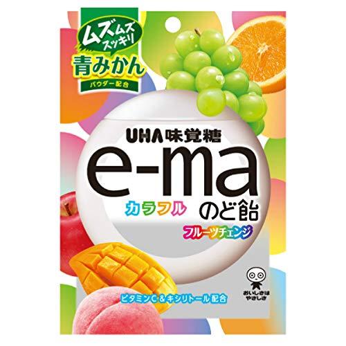UHA味覚糖 e-maのど飴袋 カラフルフルーツチェンジ 50g 72コ入り