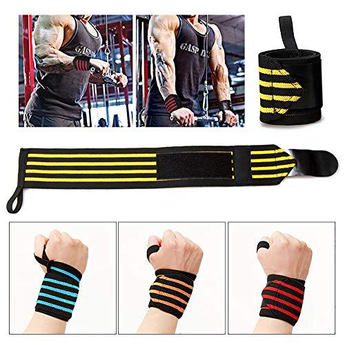 DYL&CDAI Kleur gewichtheffen banden, pols compressie banden, sport pols-assistentie wikkelbanden, fitness gewichtheffen beschermende uitrusting