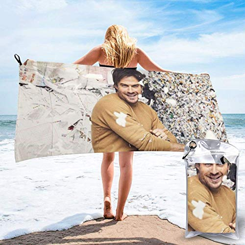 XCNGG IanJosephSomerhalder Beach Towels SandControl Towel Quickdry Bath Towel for Beach, SPA, Bath,...