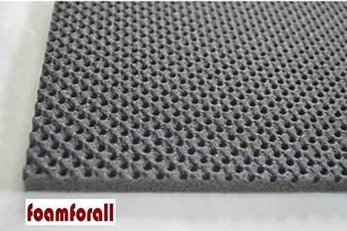 foamforall Dämmmatte, Absorptionsmatte aus hochwertigem, offenzelligem PU-Schaumstoff, geprägt, selbstklebend 2m x 1 m Stärke 10mm