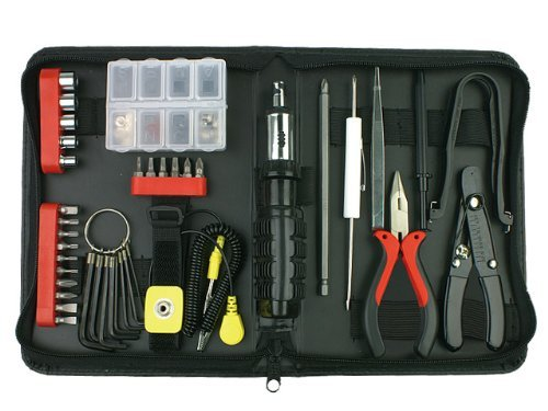 Rosewill Tool Kit RTK-045 Computer Tool Kits for Network & PC Repair Kits with Plier Hex Key bits ESD Strap Phillips Screwdriver bits & Socket Sets