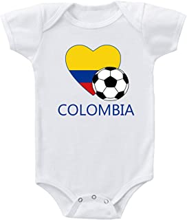 Speedy Pros Colombian Soccer Colombia Football Infant Toddler Baby Bodysuit One Piece 6 Months White