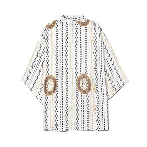 LIGUANGWEN Europeo del Verano Y De La Flor Americana Kimono Étnica 3D Manga del Cuarto De La Impresión De La Raya Floja De...