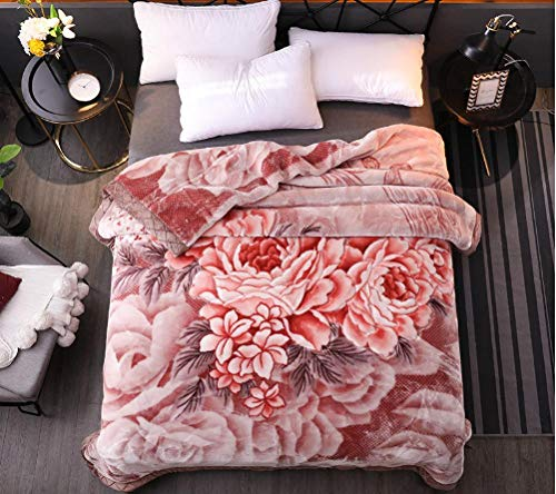 ROZIA Thickened winter flannel coral fleece blanket-150 * 200_11