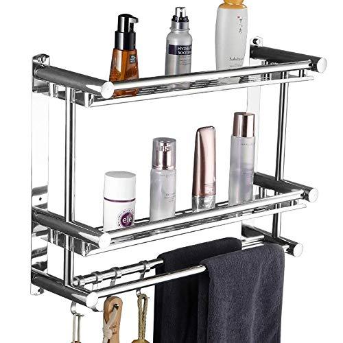 Houders aluminium hotel badkamer handdoekverwarmer wand-douchegel shampoo cosmetica-rek 40-60cm -71 (kleur: 1-voudig grootte: 50 cm) 40 cm - 2 tiers