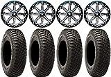 Bundle - 9 Items: MSA Lok 15' UTV Wheels 32' BFG KM3 Tires [4x137 Bolt Pattern 12mmx1.25 Lug Kit]
