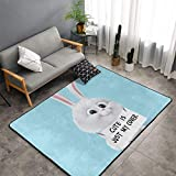 Snowball The Secret Life of Pets Carpet Area Mat Bedroom Camping Soft Mat Kids Boys Girl Blankets Kindergarten Home Room Comfortable and Durable Decor Rug Polyester 60 X 39 Inch