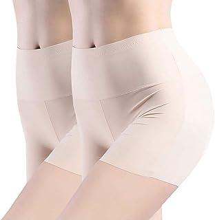 Boomly Mujer Sexy Pantalones De Seguridad Invisible Ropa Interior Shorts De Seda Delgado Tramo Short Leggings Bragas Boysh...