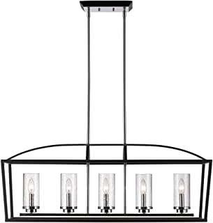 Best chromeo 5 light matte black linear pendant Reviews