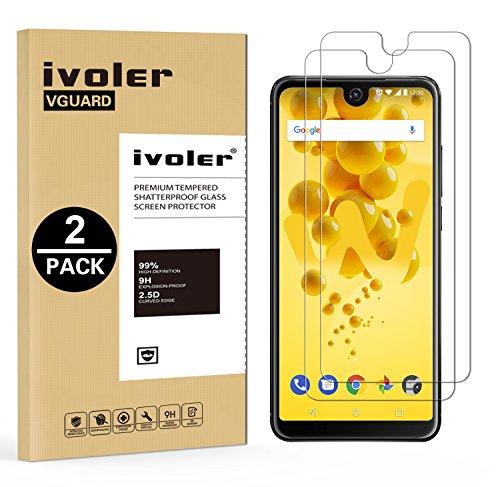 ivoler [2 Stücke] Panzerglas Schutzfolie für Wiko View 2 / Wiko View2 [9H Härte] [Anti- Kratzer] [Bläschenfrei] [2.5D R&e Kante]