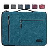 Lubardy Funda Portátil Compatible 15-15.6 Pulgadas Laptop Impermeable Maletín para Funda Ordenador Portátil Protectora Prueba Golpes Compatible Macbook Air/Pro, HP, DELL, Samsung, etc Azul