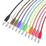 ExcelValley - 12 Pack - Cables de Conexión Mono Modulares - TS 3,5mm 1/8' Eurorack Sintetizador - 150 cm - 59.05'