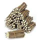 Bleistiftbündel, aus thailändischen Zweigen, extra klein, Schwarz, 10 Bündel