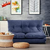 DANGRUUT Upgraded Version Adjustable Floor Couch Floor Sofa Bed with 5 Adjustable Reclining Position, Foldable Japanese Floor Futon, Lazy Lounge Couch for Living Room, Bedroom (Navy)
