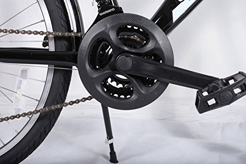 24 Zoll Jungen Fahrrad 21-Gang Shimano MIT Beleuchtung Farbe SCHWARZ TMX - 4