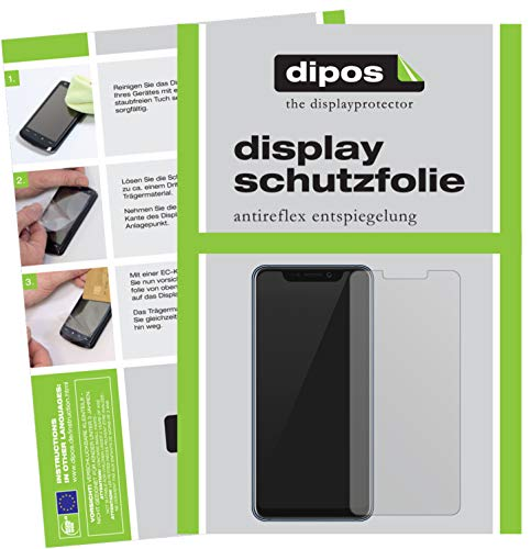 dipos I 2X Schutzfolie matt kompatibel mit ZTE Axon 9 Pro Folie Bildschirmschutzfolie