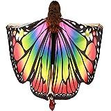 INS人気! Eldori 人気 女性 ショール マント バレンタインデー プレゼント ケープ 肩掛け 蝶柄 ショール バタフライショール 肩マント フリーサイズ スカーフ肌触り抜群 蝶みたい 本物そっくり Women Butterfly Wings Shawl Scarves Ladies Nymph Pixie Poncho Costume Accessory (D)