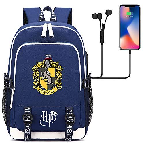 GXB Hogwarts College Backpack Junior Schoolbag Mochila Casual Azul Unisex Talla única Estilo-14