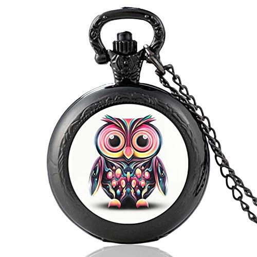 XTQDM Reloj de Bolsillo,Reloj de Bolsillo con Colgante de Plata Suave de Lujo, Reloj analógico con número árabe Moderno, Collar de Moda para Hombres y Mujeres, Cadena, Regalo Unisex, black35mm