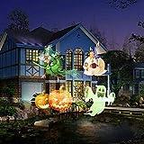 NBVCX Inicio AccesoriosFiesta Luces de Escenario Navidad Halloween Brithday Patrón Luz de proyección Linterna LED Decoración de Fiesta Lámpara para Navidad Halloween Cumpleaños Boda Fiesta