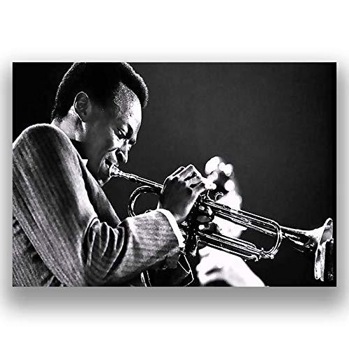Box Prints Miles Davis ikonenhafte Retro Musik-Leinwanddruckwandwandkunst kleines großes Bild