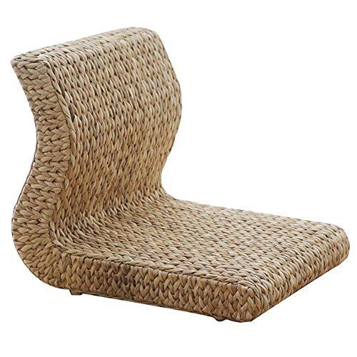 Einfachheit für Familien Stuhl aus Korbgeflecht im Japanischen Stil, 36 X 50 X 38 Cm. Stuhl Lazy Legless Stool, zdz