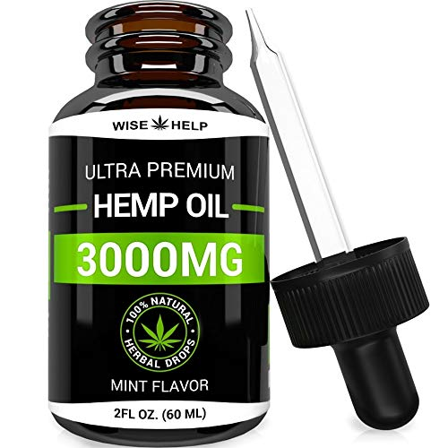Hemp Oil Drops 3000 MG - Made in USA - Premium Hemp Extract - Optimum Absorption & BIOAvailability -...