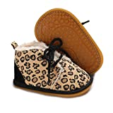 ENERCAKE Baby Booties Newborn Boy Girl Shoes Winter Warm Fur Lining Non-Slip Lace Up Prewalker Boots(6-12 Months Infant,...