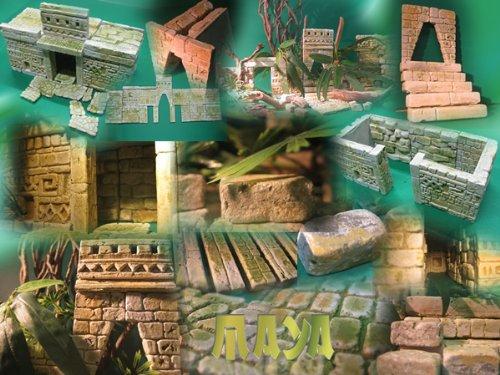 MAYA Terrarien Set, Terrarium Deko Themen Rückwand - 5