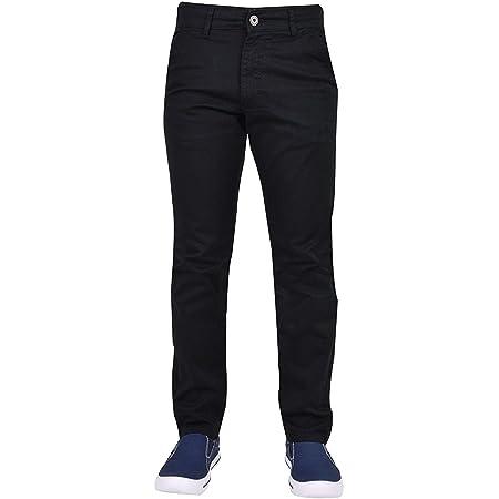 Enzo Men EZ348 Chino Jeans Black 38W x 32L