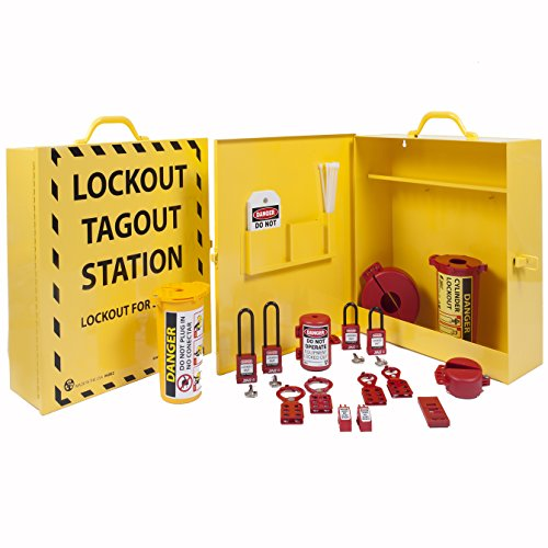 Zing Green Products 6062 RecycLockout Lockout Cabinet - Stocked, Yellow