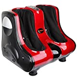 Shiatsu Kneading, Rolling & Heating Foot & Calf Massager Personal Health Studio Leg Beautician red